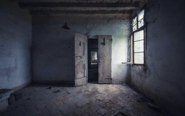Man Made Ruin Room Door HD Wallpaper   Background Image