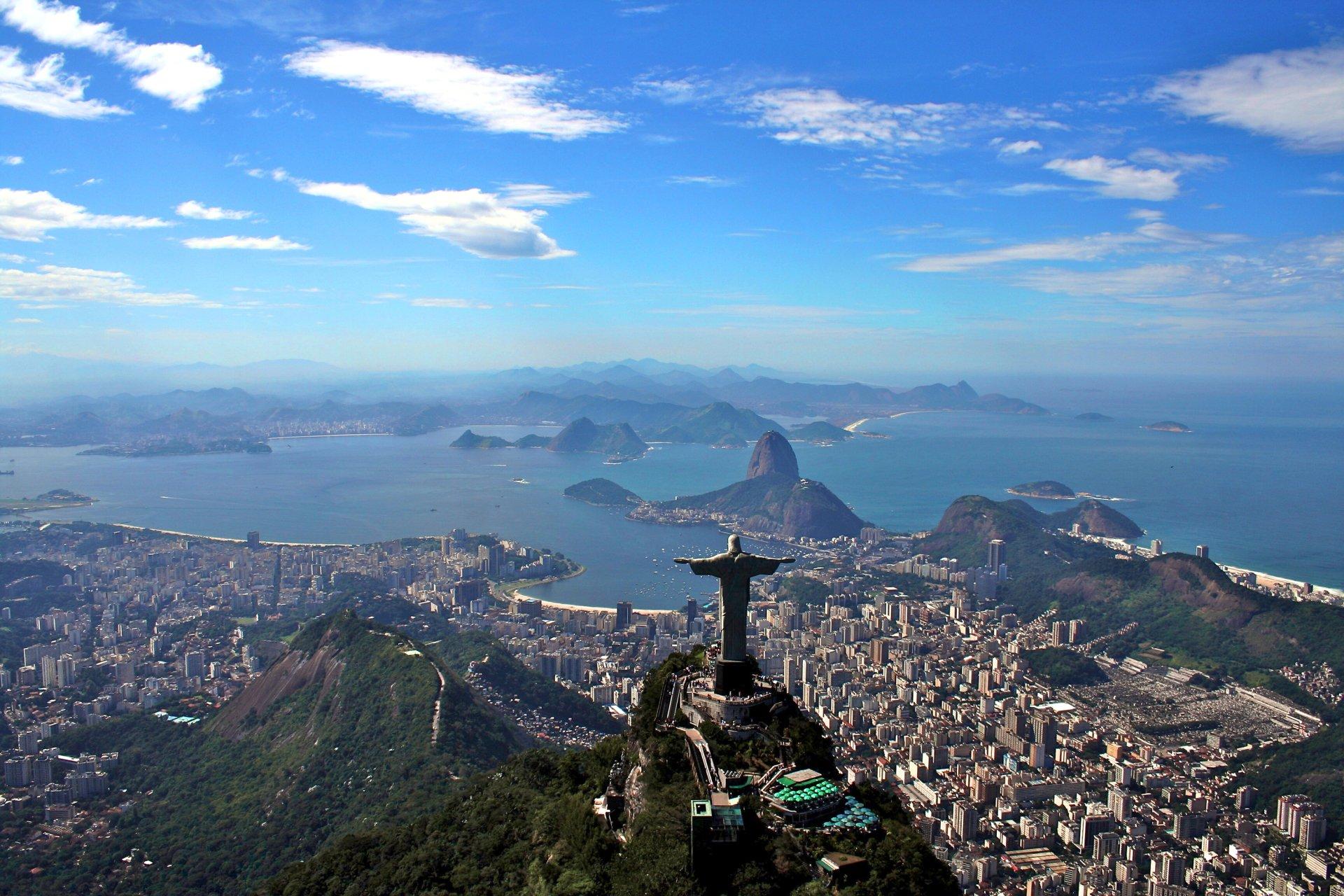 Man Made - Rio De Janeiro  Brazil City Cityscape Christ the Redeemer Wallpaper