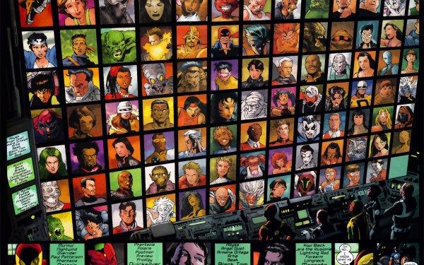 Comics Avengers The Avengers Marvel Comics Nightcrawler Blob Vision Quicksilver HD Wallpaper | Background Image