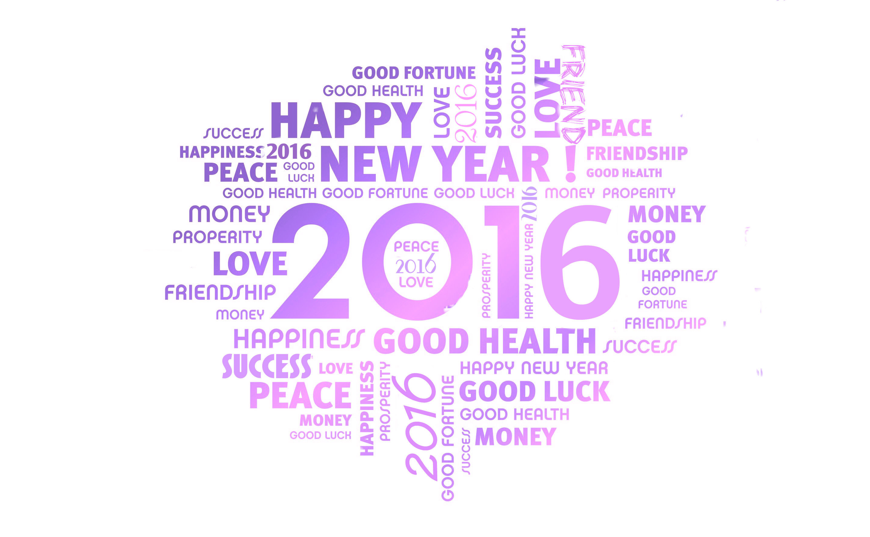 New Year 2016 HD Wallpaper Background Image
