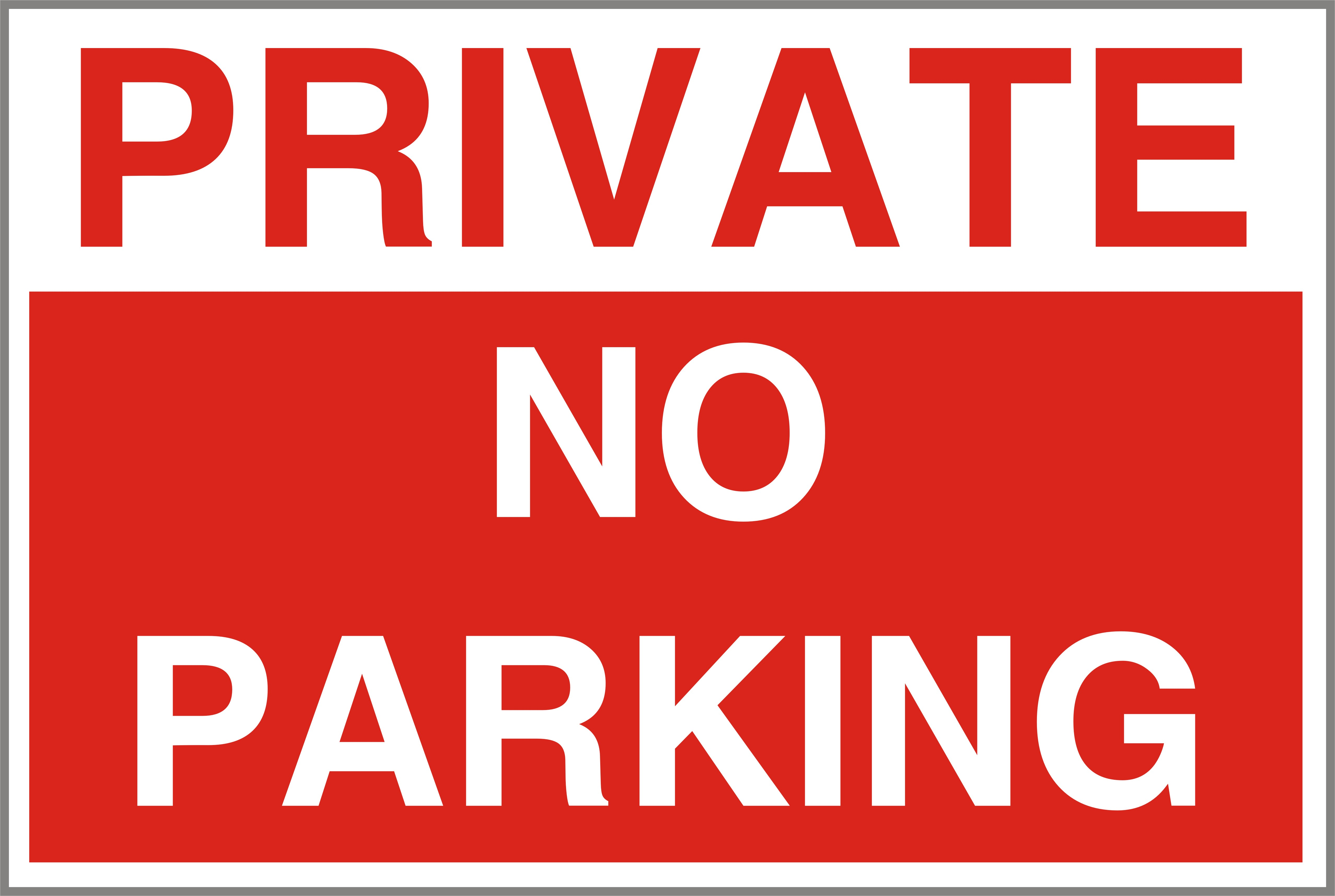 It's just a picture of Critical Printable No Parking Sign
