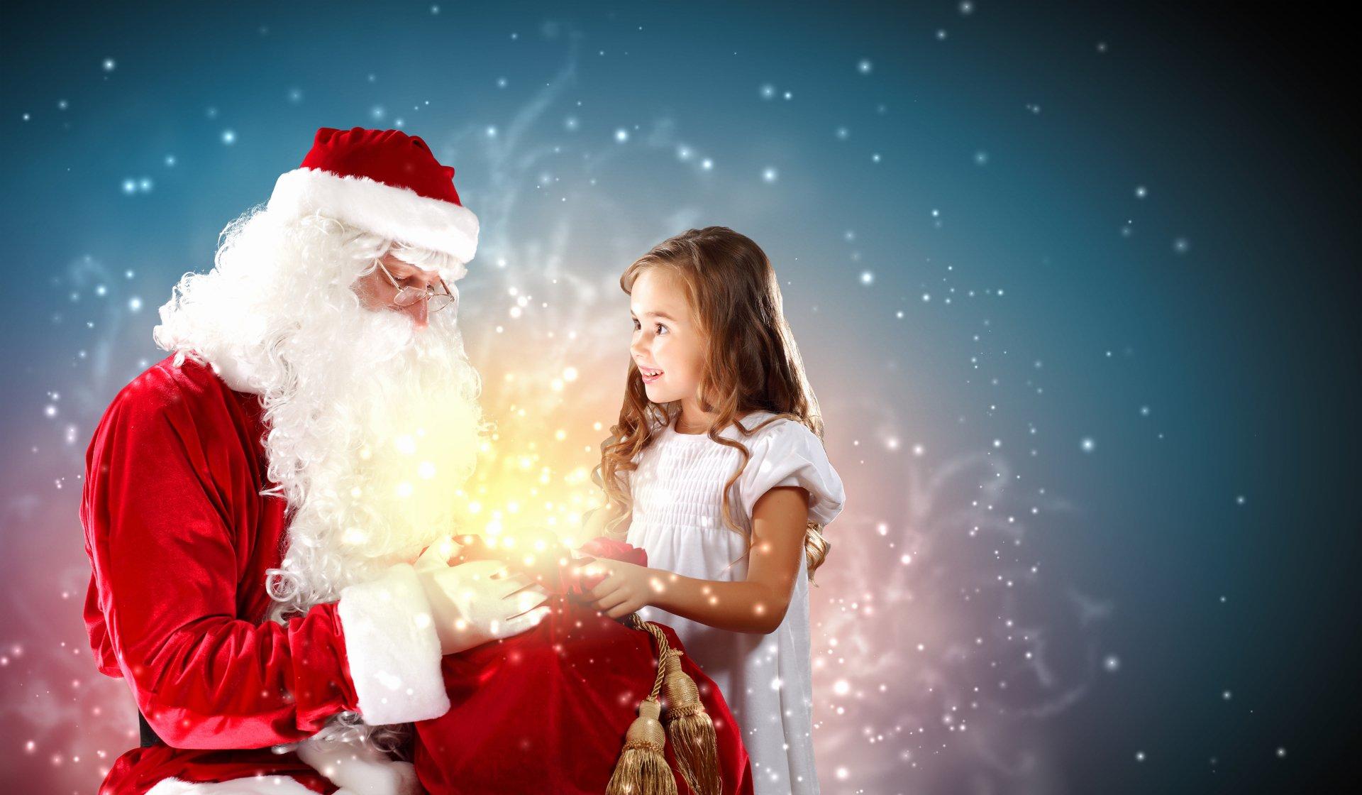 Holiday - Christmas  Santa Child Girl Wallpaper