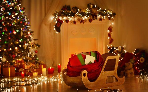 Holiday Christmas Christmas Tree Christmas Ornaments Christmas Lights HD Wallpaper | Background Image