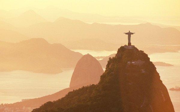 Religious Christ The Redeemer Rio de Janeiro Brazil Mountain HD Wallpaper | Background Image