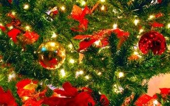 Holiday Christmas Colorful Christmas Ornaments HD Wallpaper | Background Image