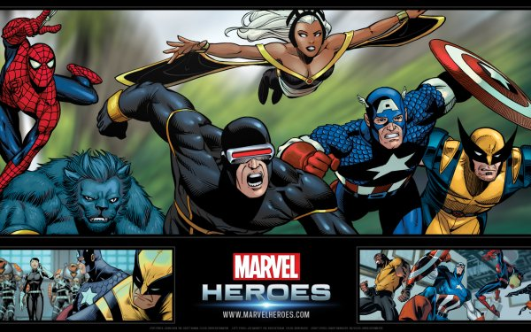 Video Game Marvel Heroes Storm Cyclops Beast Wolverine Spider-Man Captain America Luke Cage Maria Hill HD Wallpaper | Background Image
