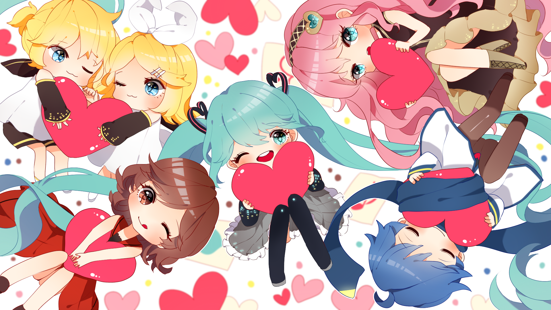 Chibi Group Vocaloid Full HD Wallpaper And Background Image