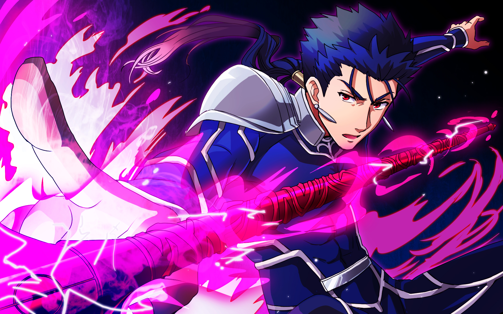 Lancer hd wallpaper background image 1920x1200 id 673529 wallpaper abyss - Fate stay night wallpaper ...