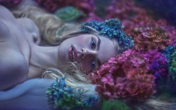 Women Mood Flower Hydrangea HD Wallpaper | Background Image