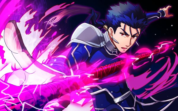 Anime Fate/Stay Night Fate Series Lance Red Eyes Blue Hair Lancer Cu Chulainn HD Wallpaper | Background Image