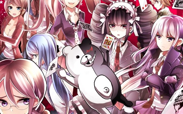 Anime Danganronpa Sakura Ōgami Aoi Asahina Tōko Fukawa Junko Enoshima Celestia Ludenberg Monokuma Kyōko Kirigiri Makoto Naegi HD Wallpaper | Background Image