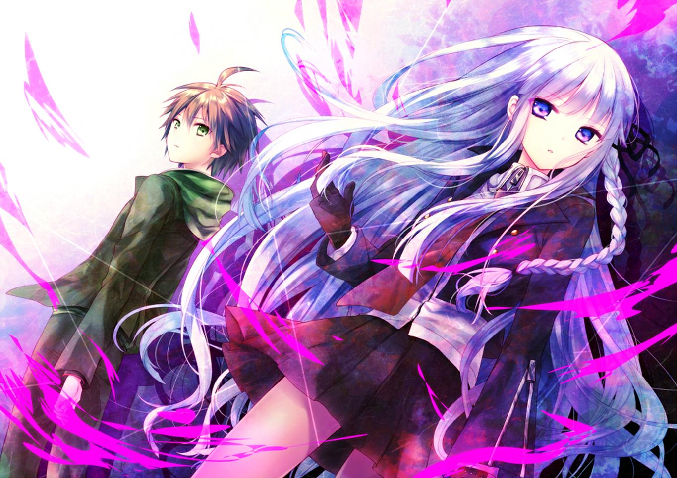 makoto and kyoko wallpaper and background image 1366x966