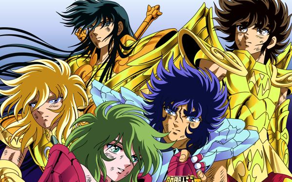 Anime Saint Seiya Pegasus Seiya Andromeda Shun Phoenix Ikki Cygnus Hyoga Dragon Shiryu HD Wallpaper | Background Image