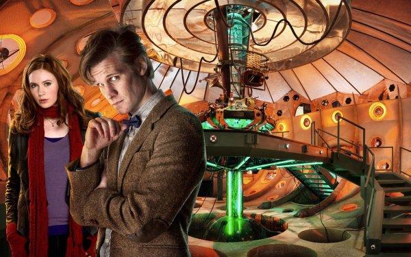 TV Show Doctor Who Amy Pond Tardis Matt Smith Karen Gillan HD Wallpaper | Background Image