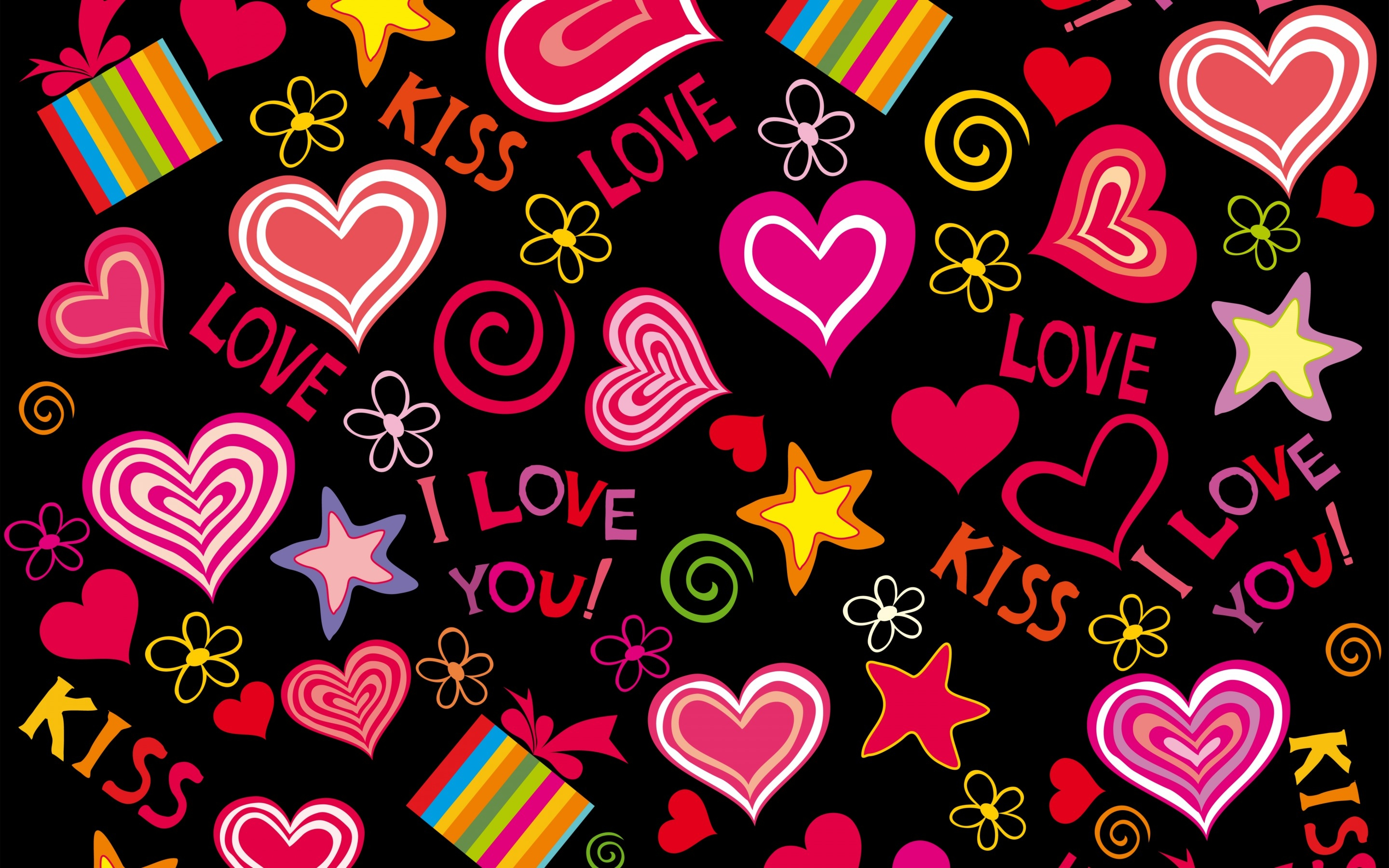 Love Wallpapers In Portuguese : Love Hearts Full HD Papel de Parede and Background Image 2880x1800 ID:676275