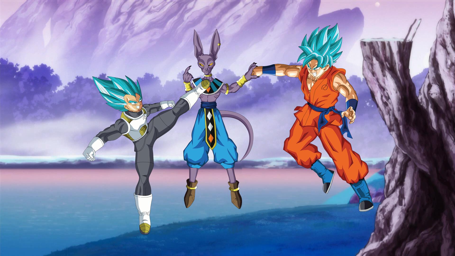 Goku And Vegeta Full Hd Fondo De Pantalla And Fondo De: SSGSS Goku & Vegeta VS Beerus Full HD Fondo De Pantalla