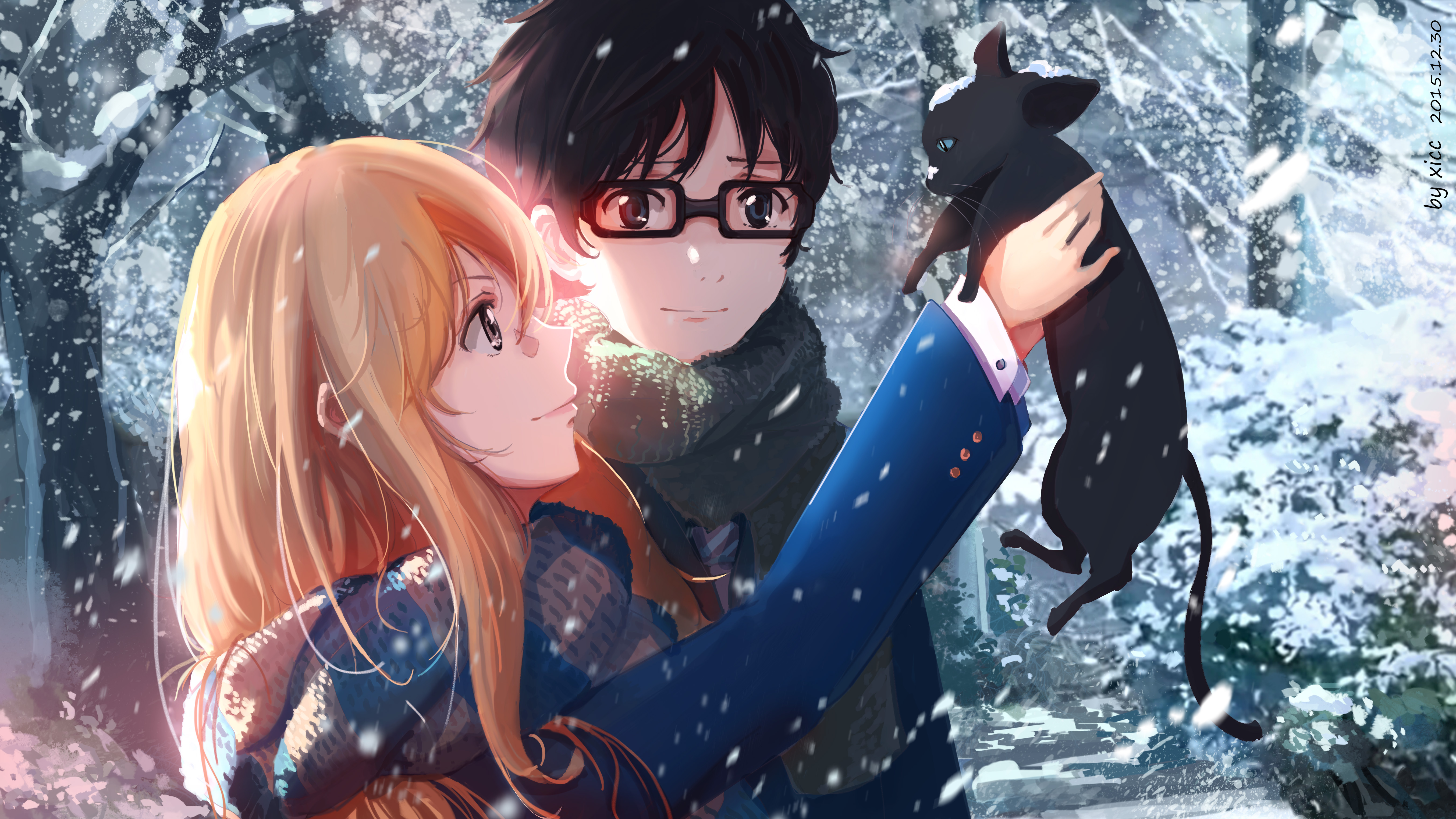 148 Your Lie In April Hd Wallpapers Background Images