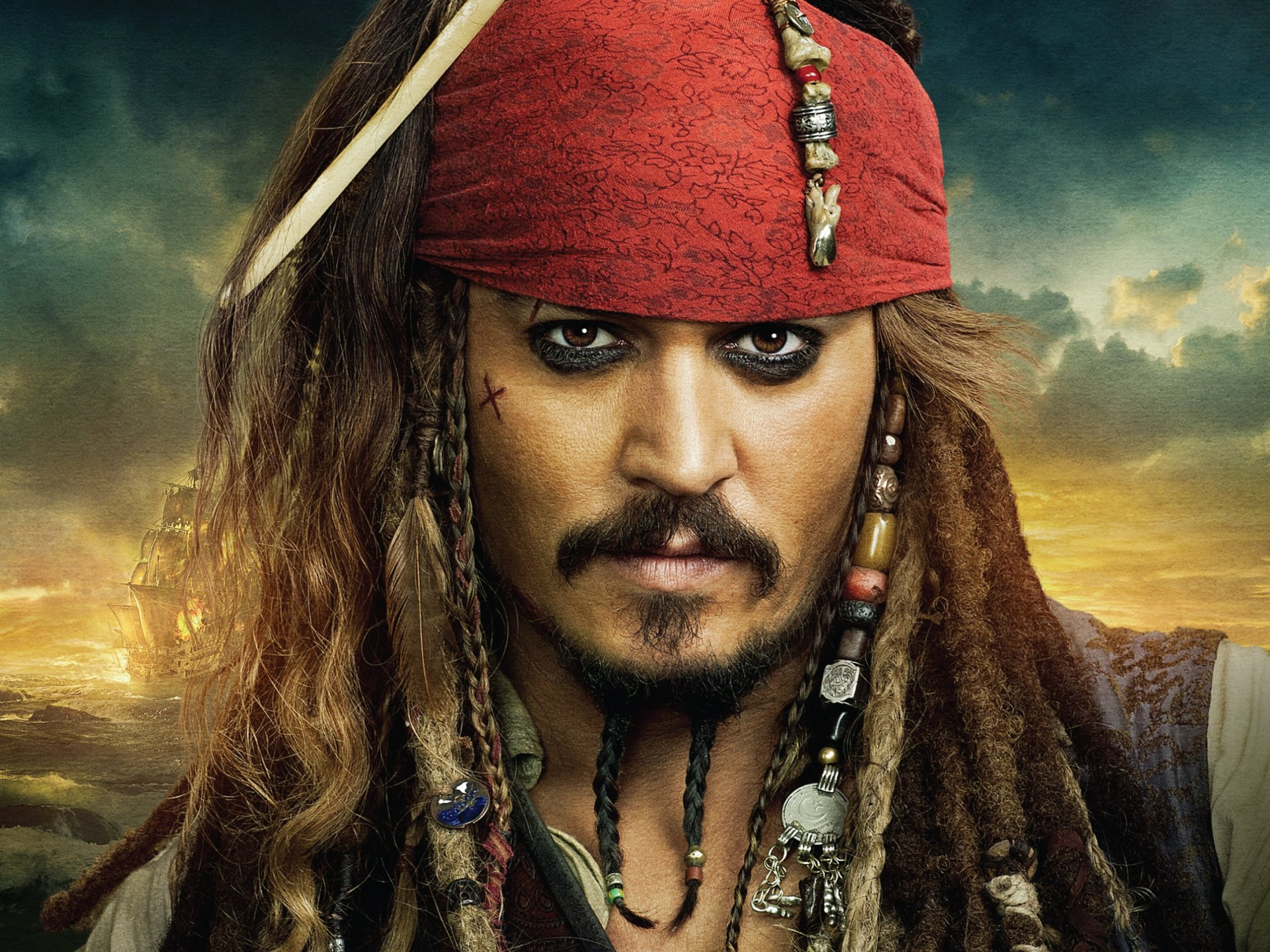 Movie - Pirates of the Caribbean: On Stranger Tides  Johnny Depp Jack Sparrow Wallpaper