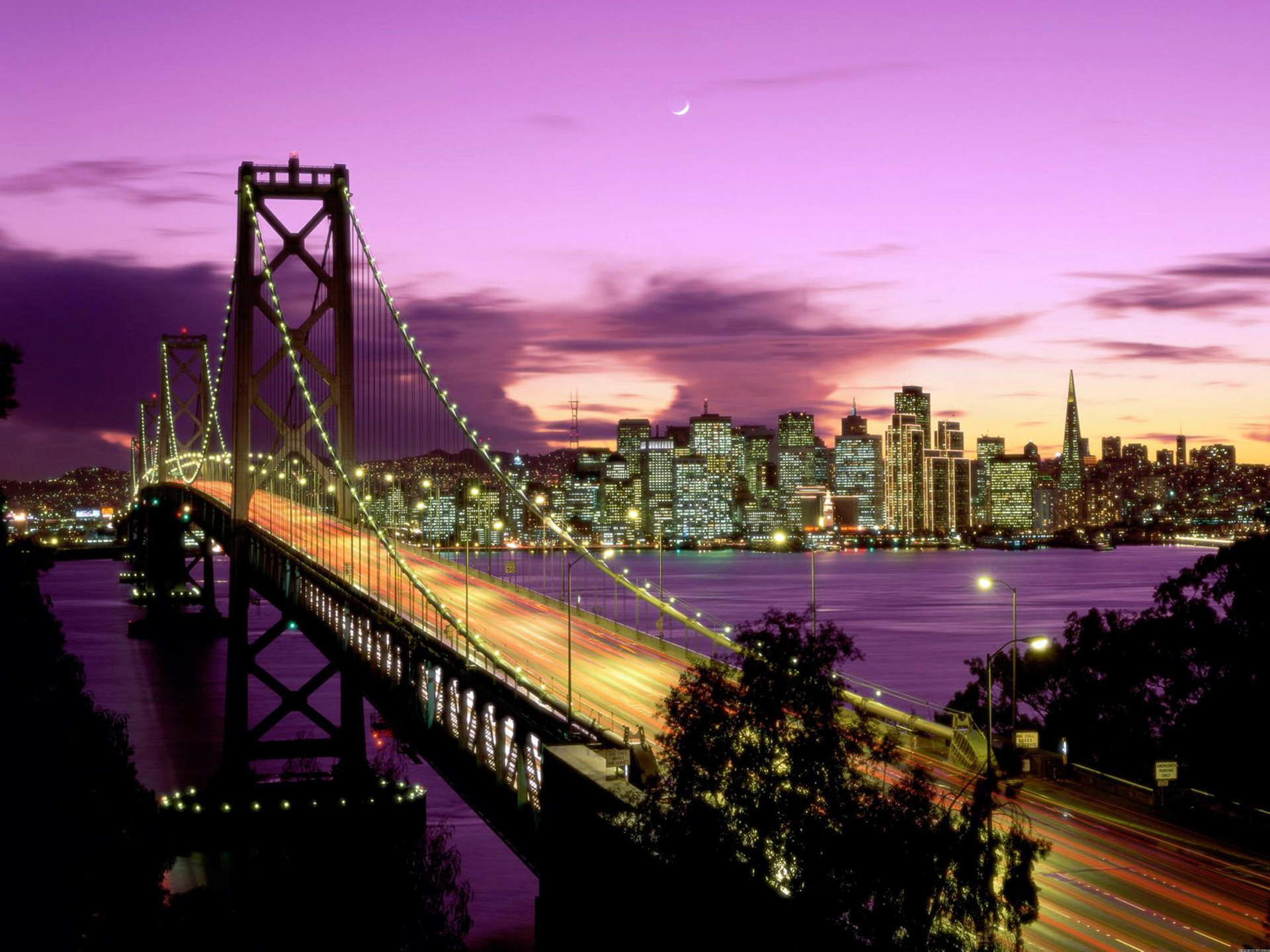 Sunset in San Francisco Full HD Wallpaper and Background