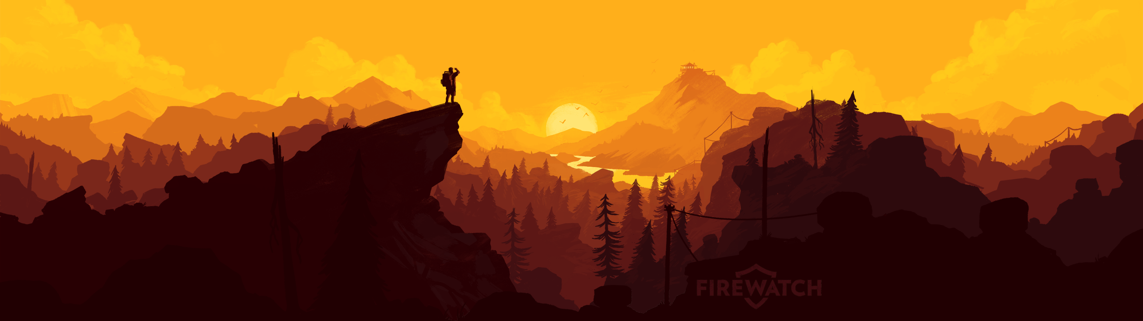 Firewatch Full Hd Wallpaper And Hintergrund 3840x1080