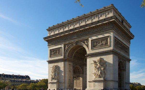 Man Made Arc De Triomphe Monuments Paris France Monument HD Wallpaper   Background Image