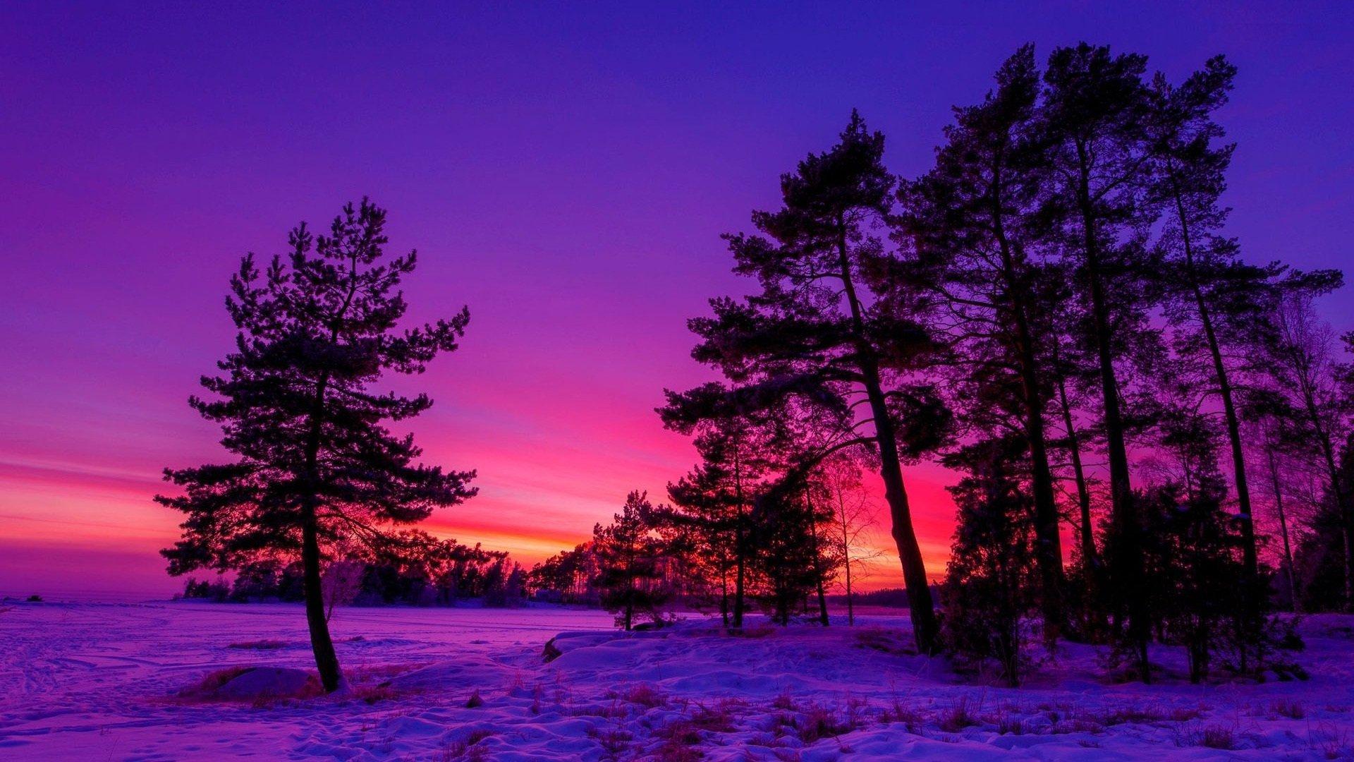 Winter sunset hd wallpaper background image 1920x1080 - Wallpaper hd nature winter ...