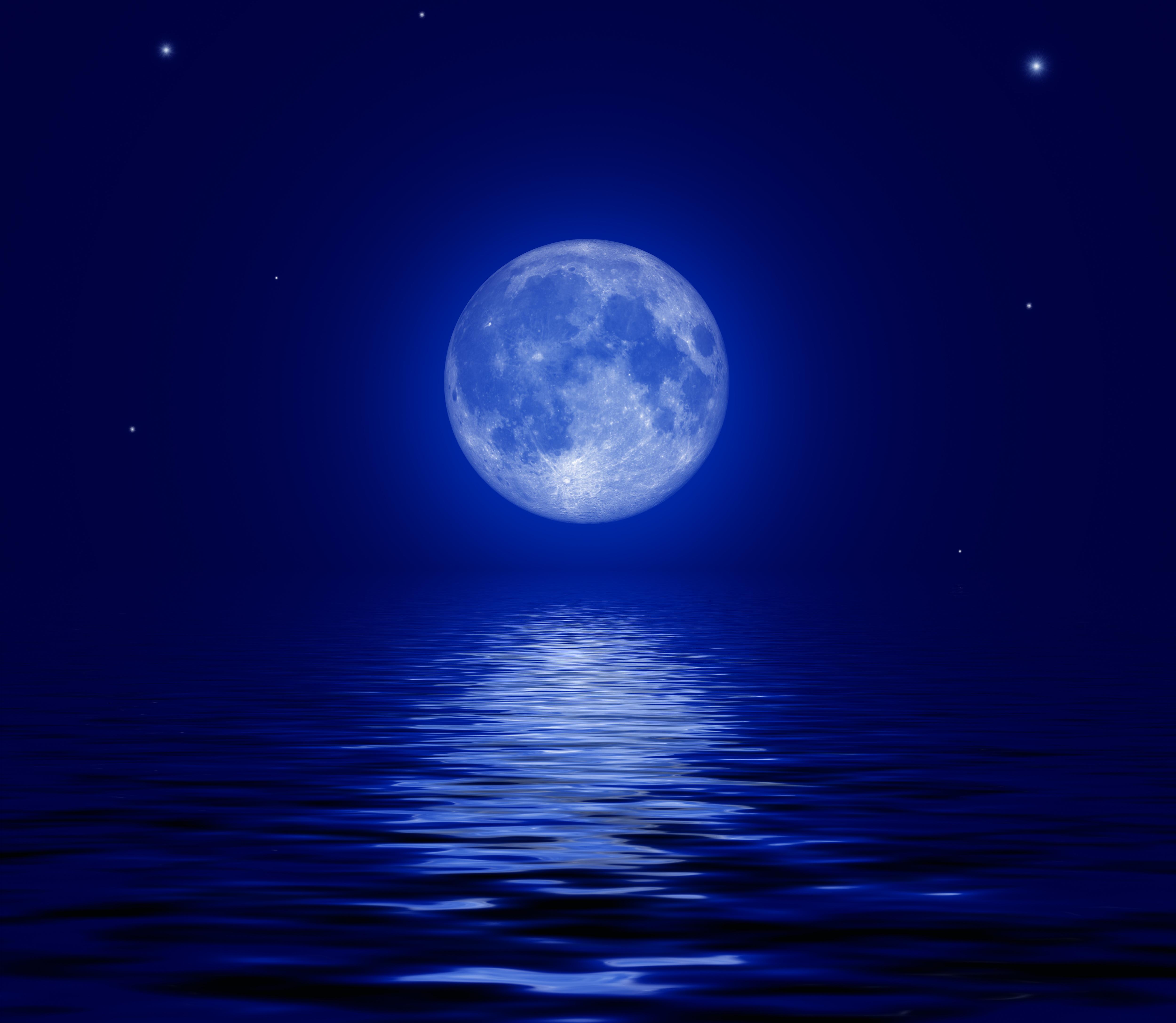 Фото луна ночь