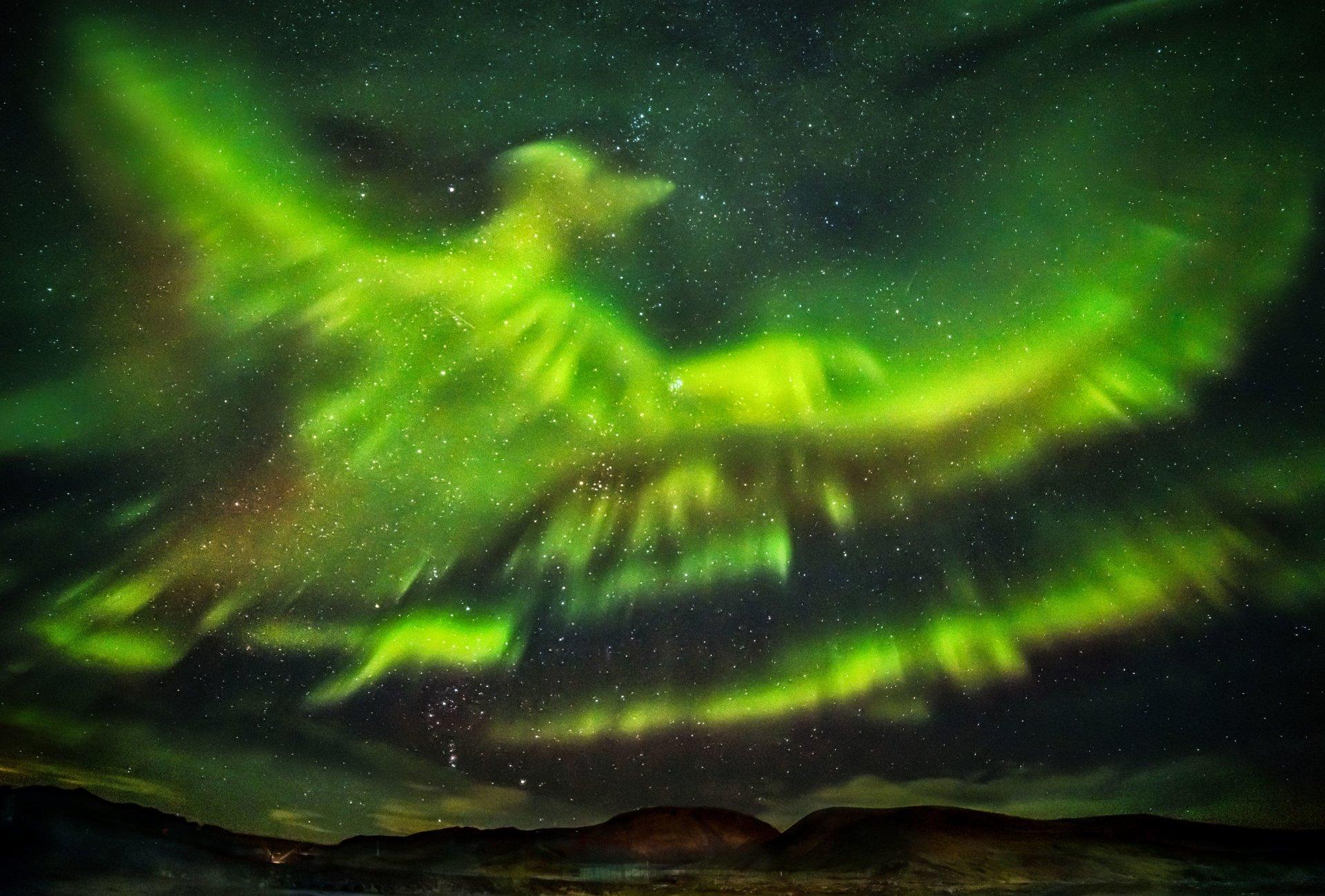 Earth - Aurora Borealis  Night Sky Stars Light Wallpaper