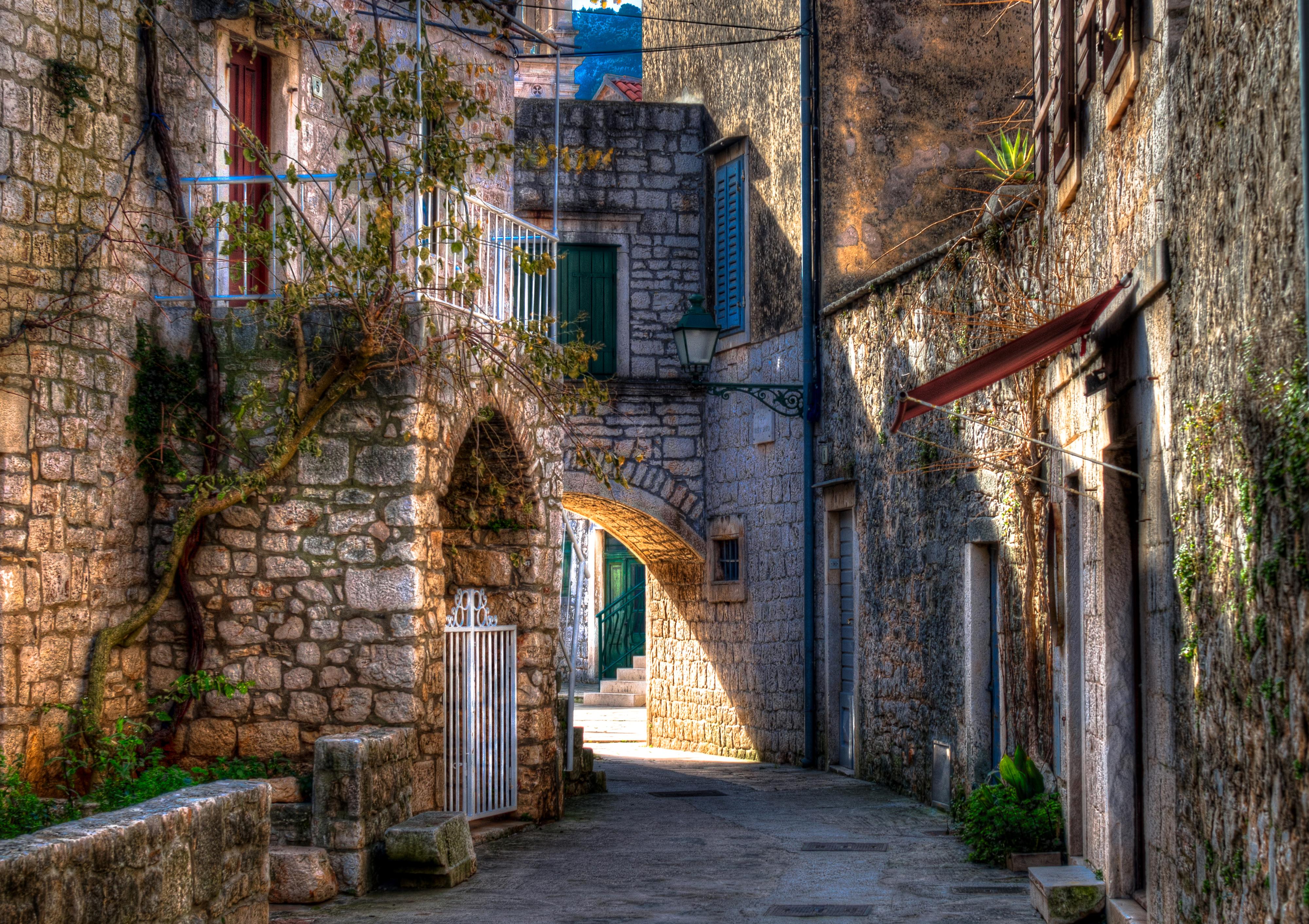 Street in Croatia 4k Ultra HD Wallpaper   Background Image ...