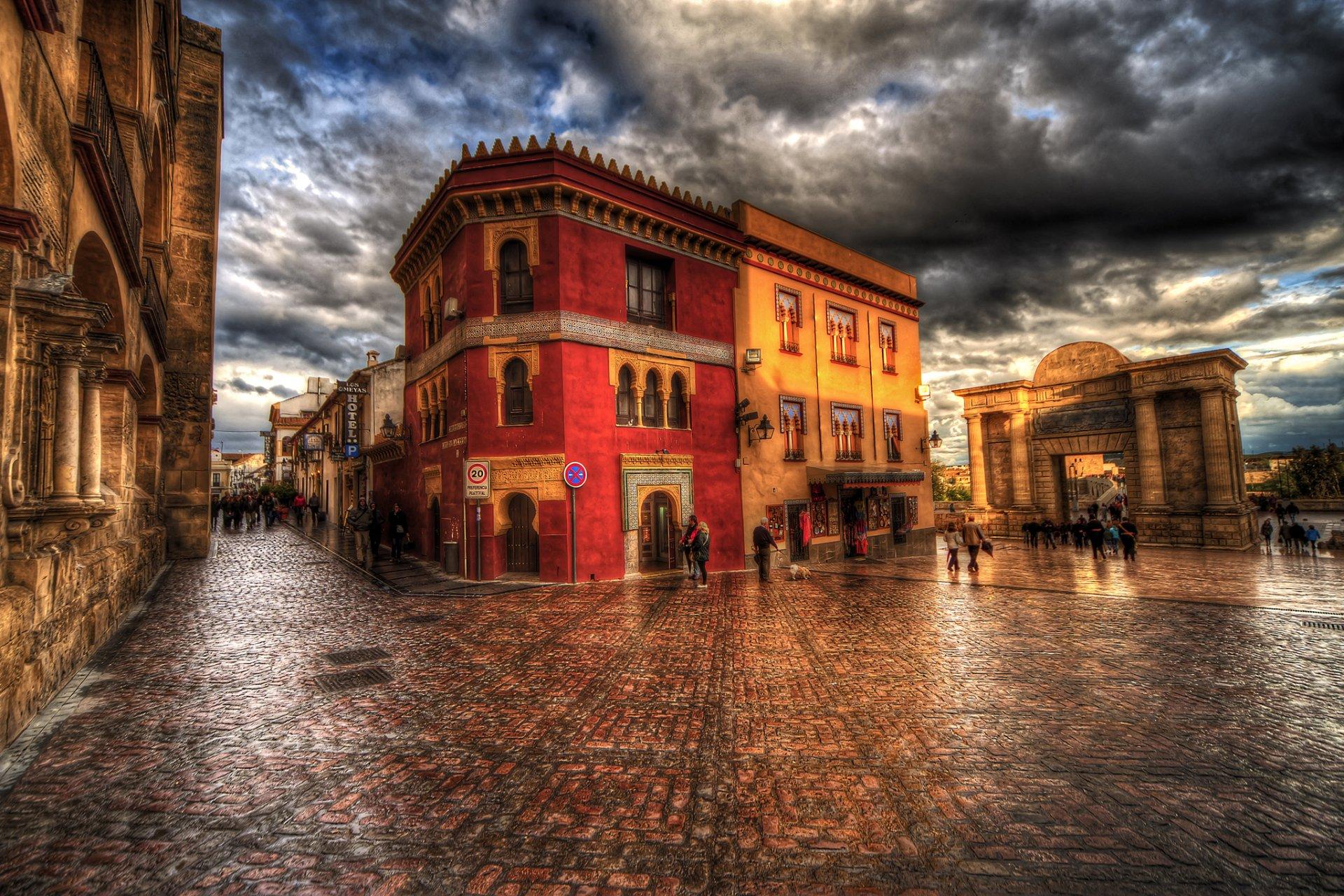 Fondo Espana Hd: Town Square In Cordoba, Spain HD Wallpaper