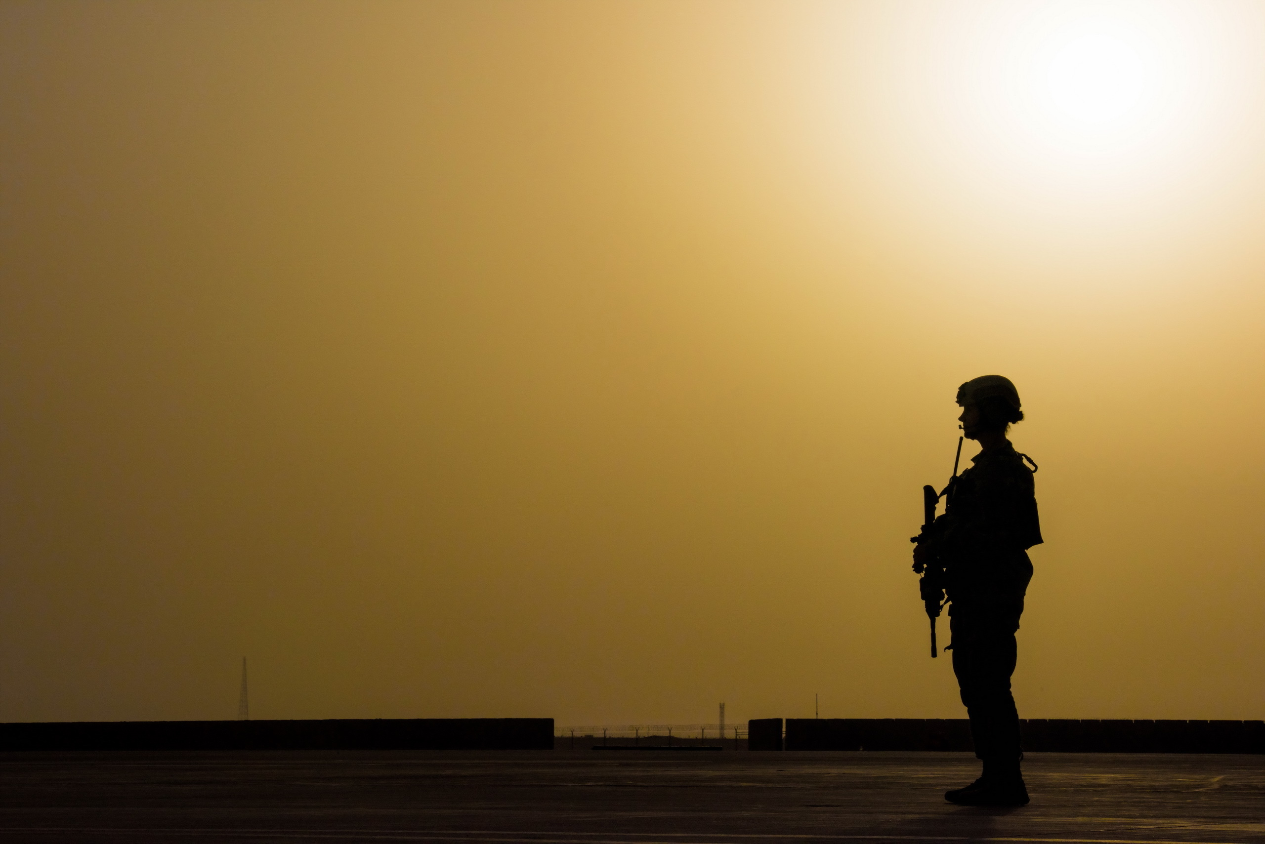 Lone Sentry Hd Wallpaper Background Image 2560x1709 Id687273