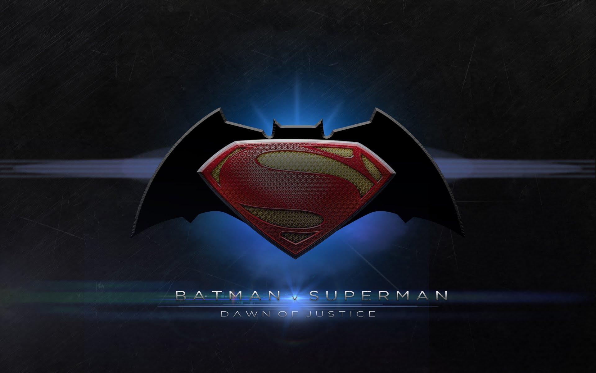 Batman V Superman Logo HD Wallpaper