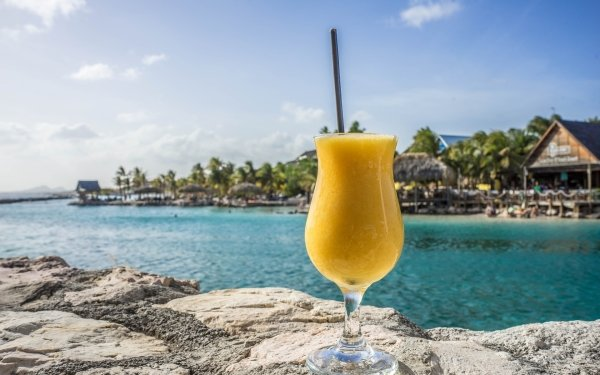 Food Cocktail Drink Tropical Glass Close-Up HD Wallpaper | Background Image