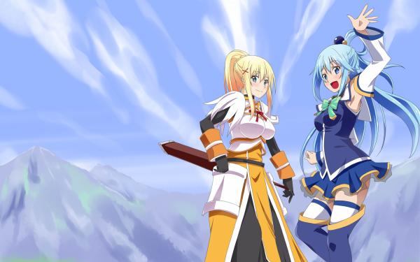 Anime KonoSuba – God's blessing on this wonderful world!! Aqua Darkness HD Wallpaper | Background Image