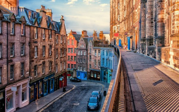 Man Made Edinburgh Cities United Kingdom City Building Architecture House HD Wallpaper | Background Image