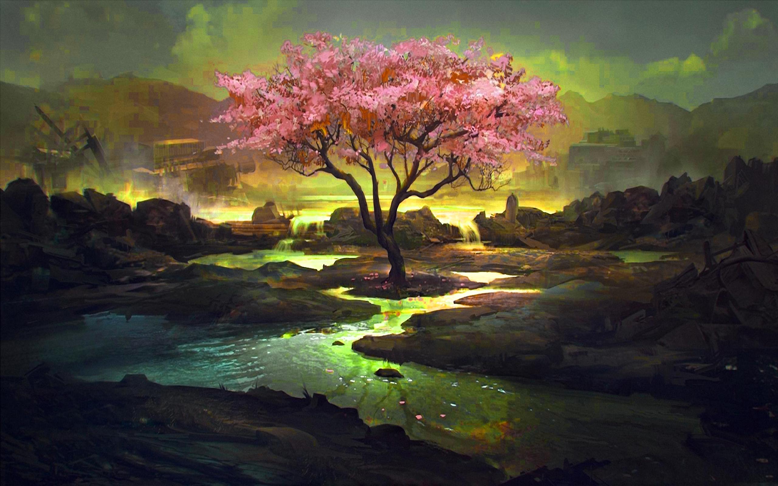 Pink Tree Fondo De Pantalla Hd Fondo De Escritorio