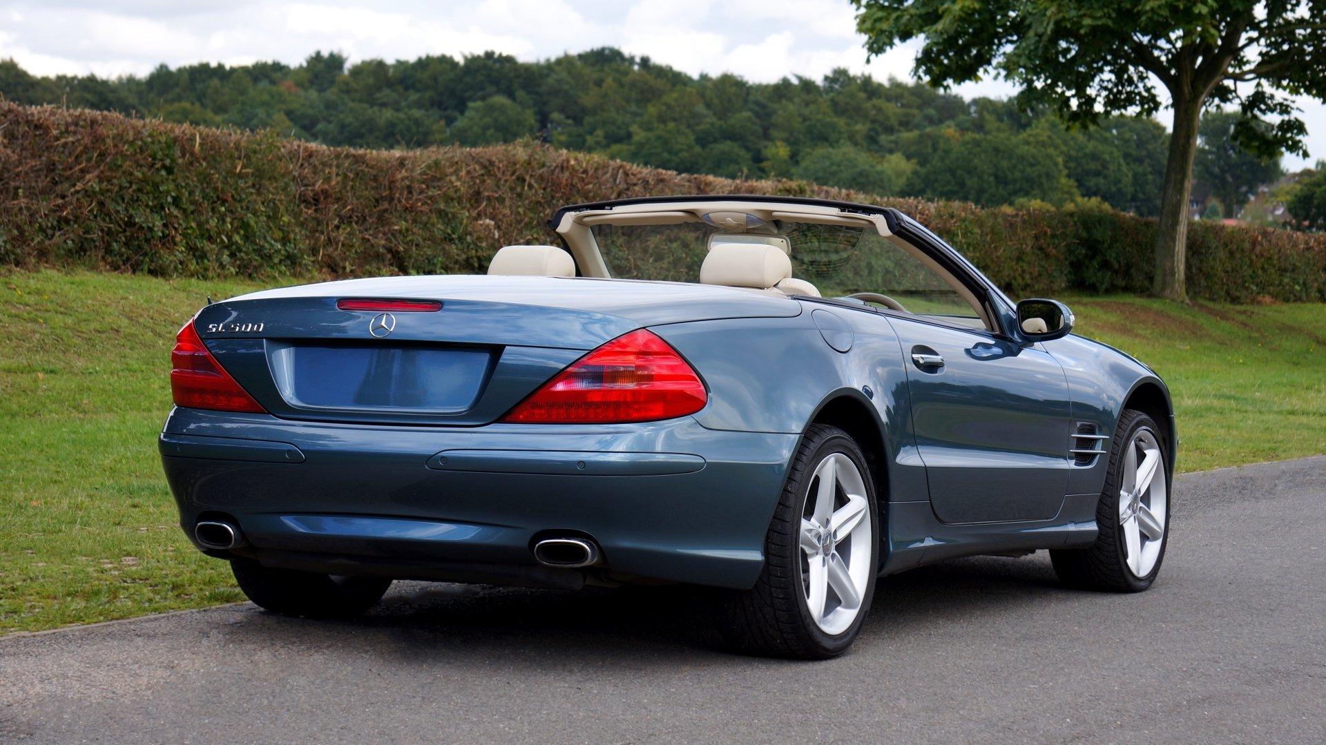 Blue Mercedes-Benz SL500 4k Ultra HD Wallpaper ...
