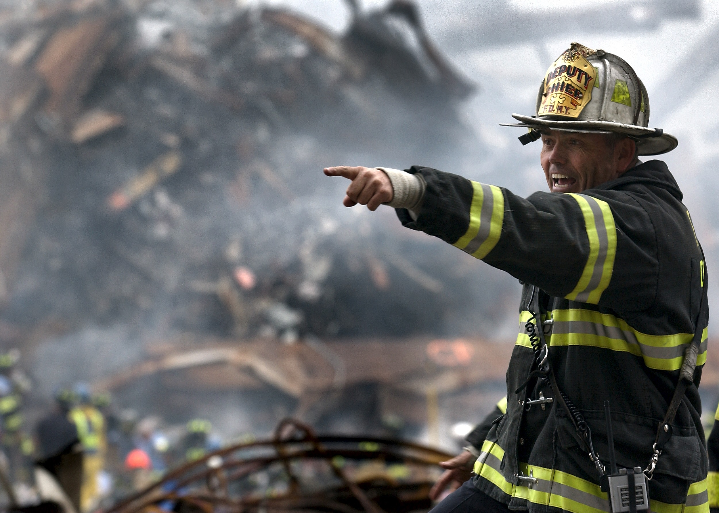 Deputy Chief Of The Fdny Among The Rubble Of The 911
