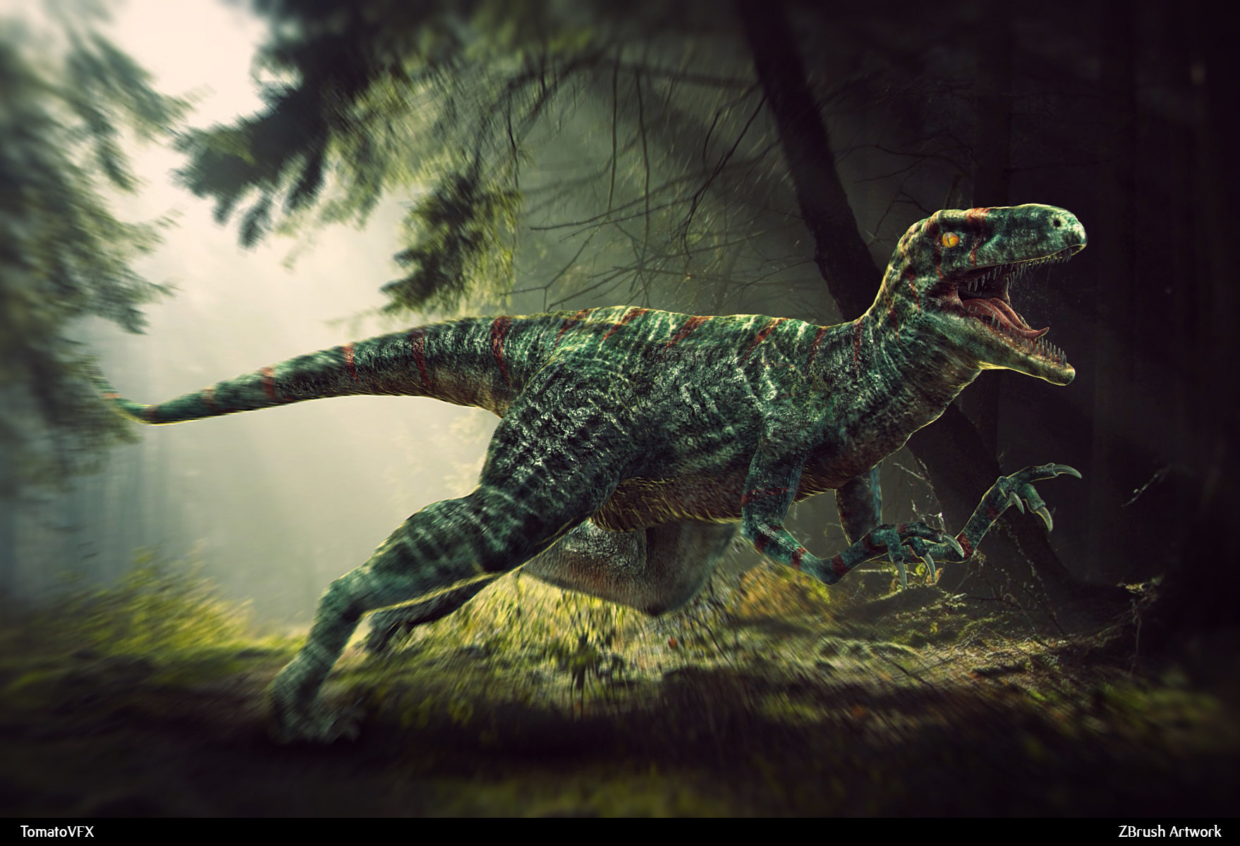 Dinosaur wallpaper and background image 1758x1200 id - Dinosaure raptor ...