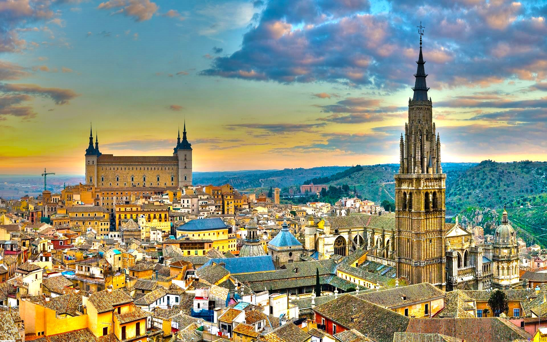 toledo spain full hd wallpaper and background 1920x1200