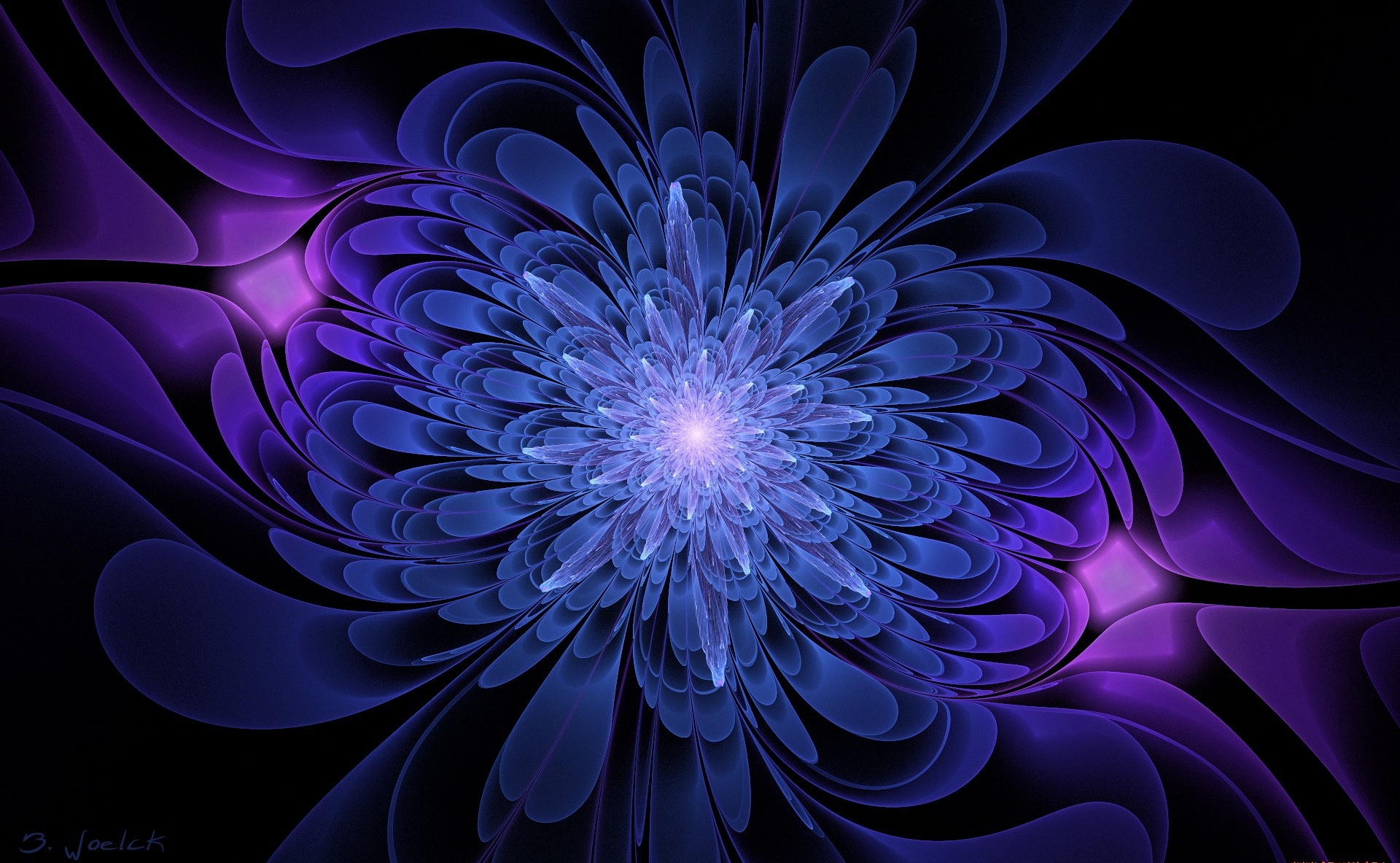 Blue And Purple Abstract Hd Wallpaper Background Image