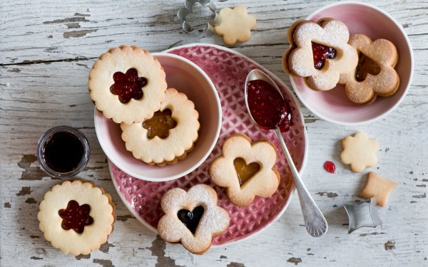 Food Cookie Jam Still Life HD Wallpaper | Background Image