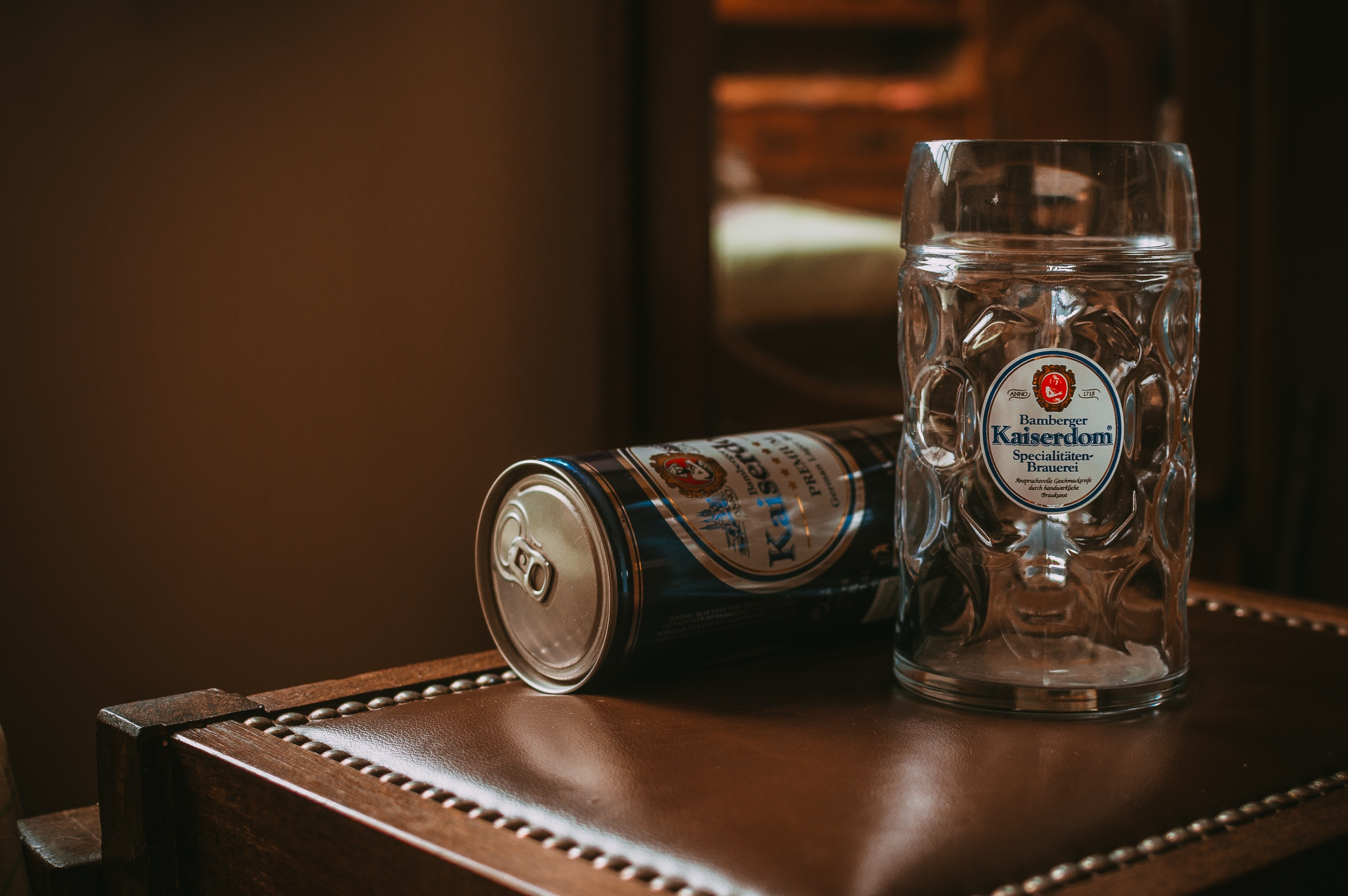 Beer Mug And Can Of Kaiserdom German Beer Hd Wallpaper