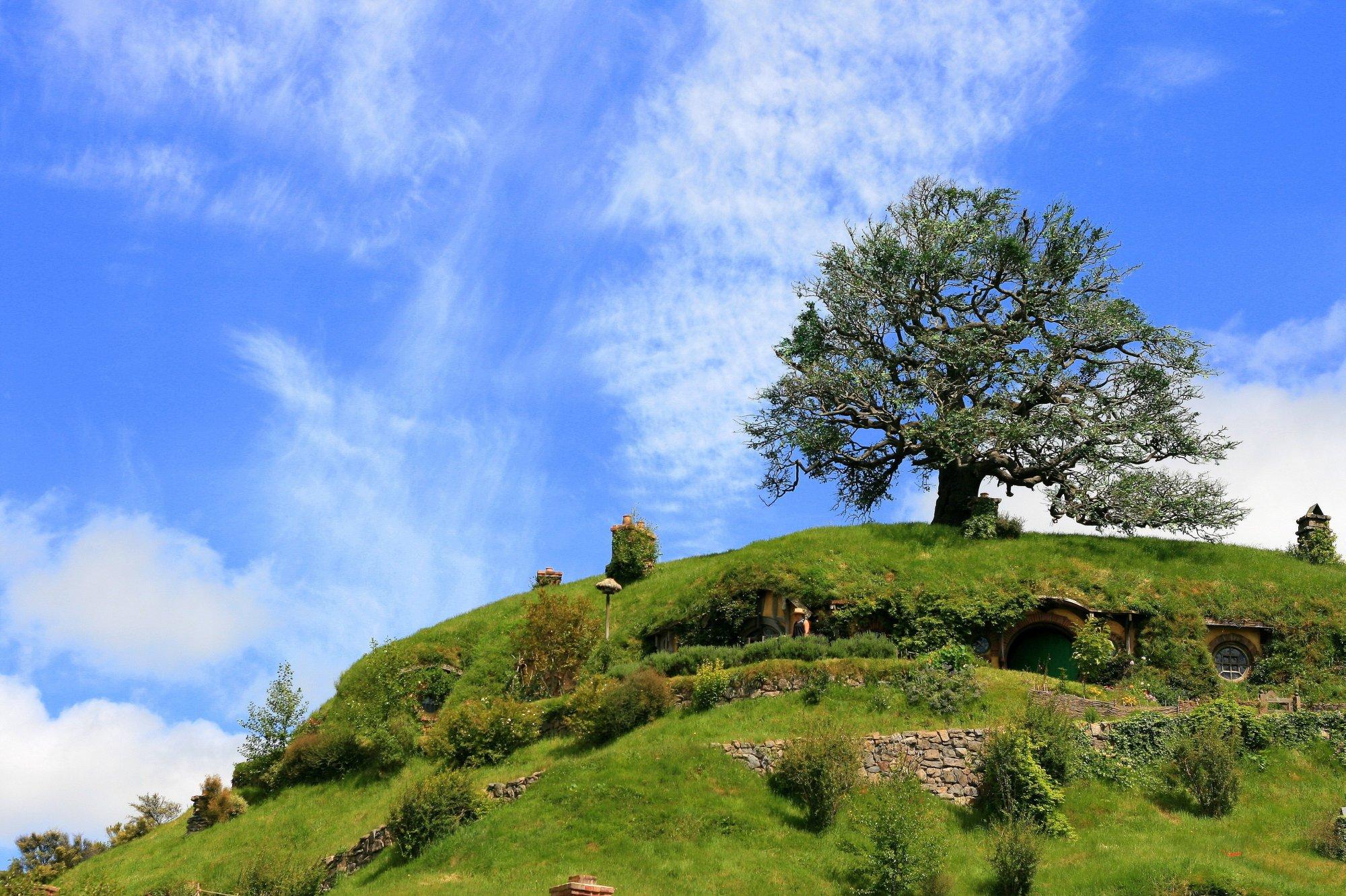 Hobbit Pub Bag End Hobbiton Film Set New Zealand Hd Wallpaper