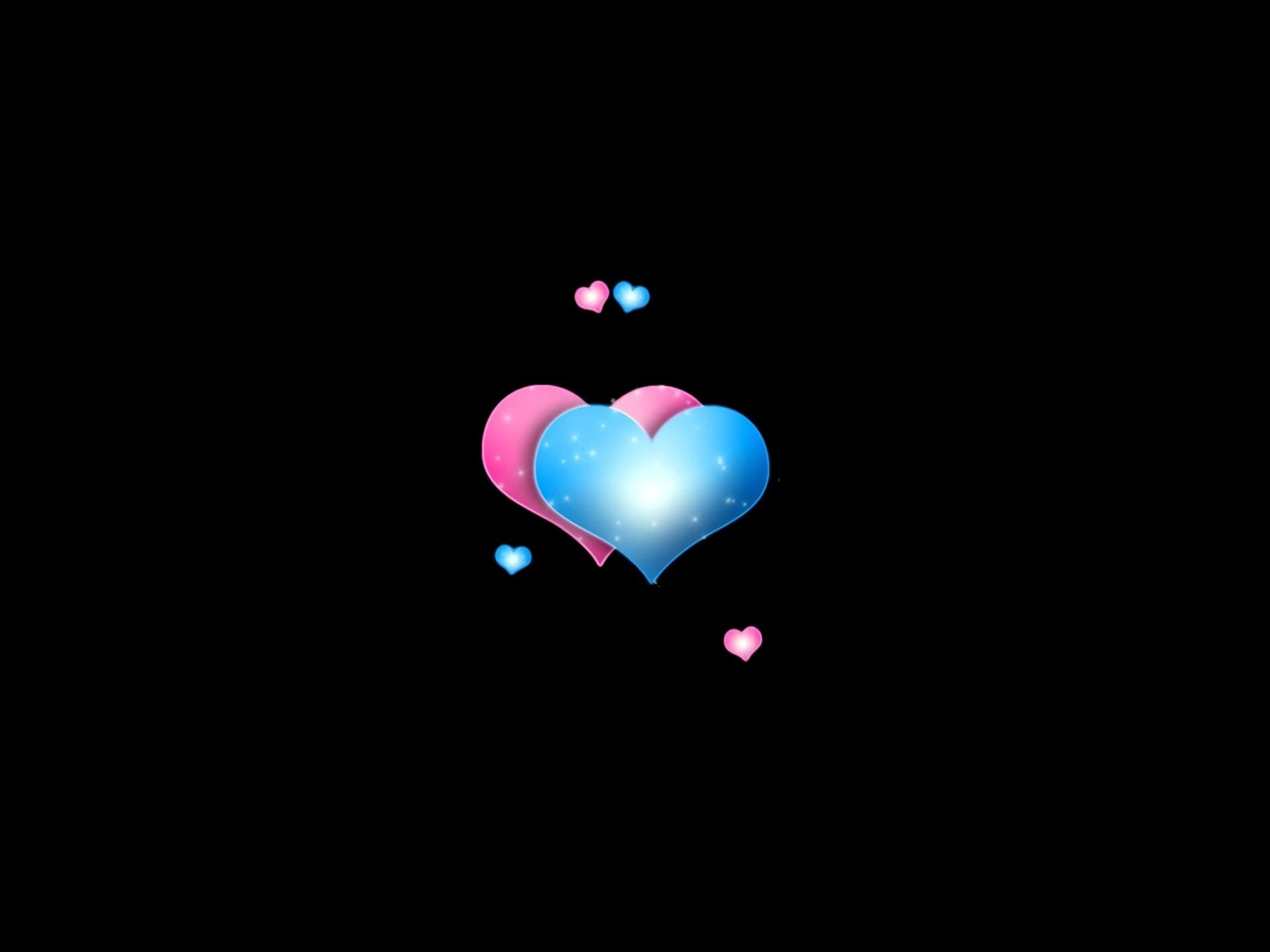 Artistic - Heart  Artistic Blue Pink Wallpaper
