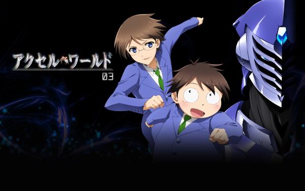 Anime Accel World Haruyuki Arita Takumu Mayuzumi HD Wallpaper | Background Image
