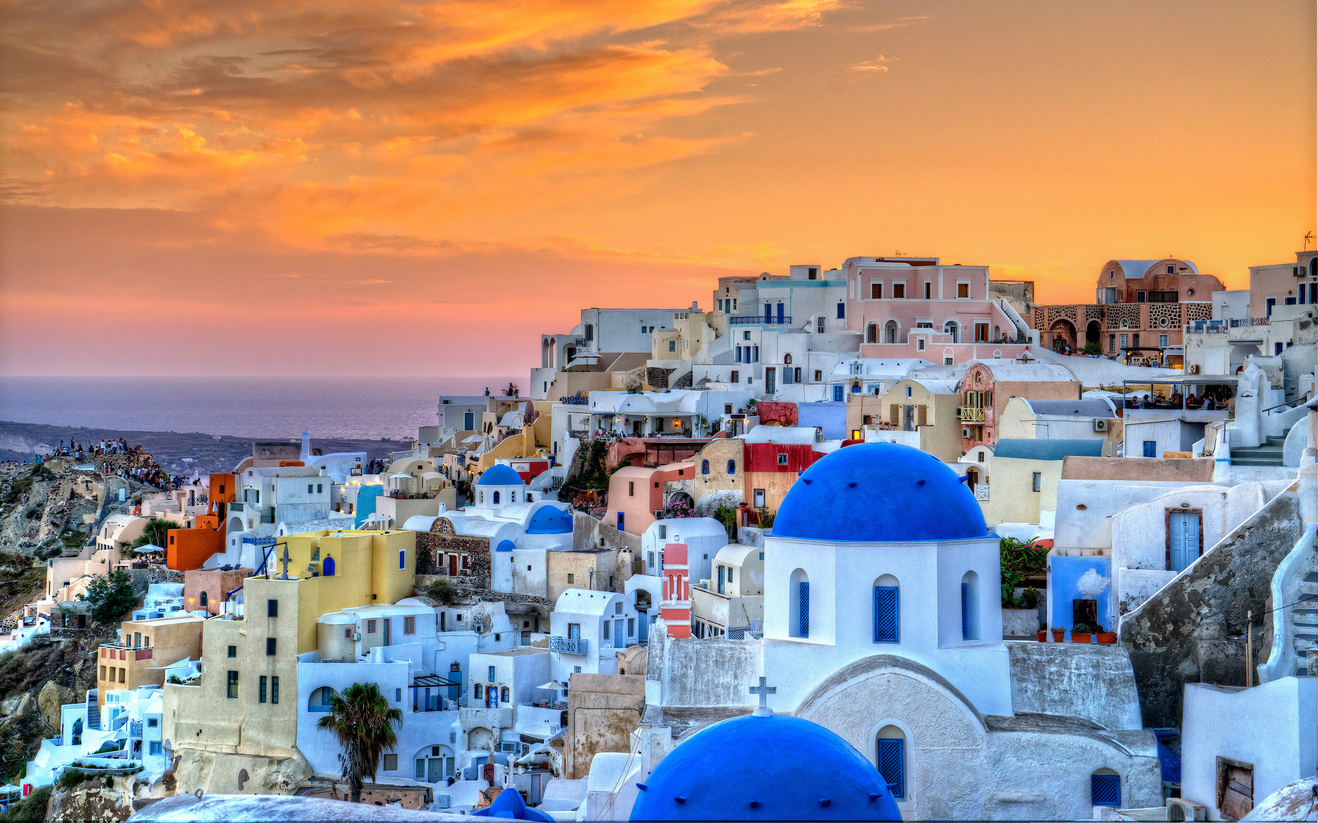 greece wallpapers santorini hd - photo #44