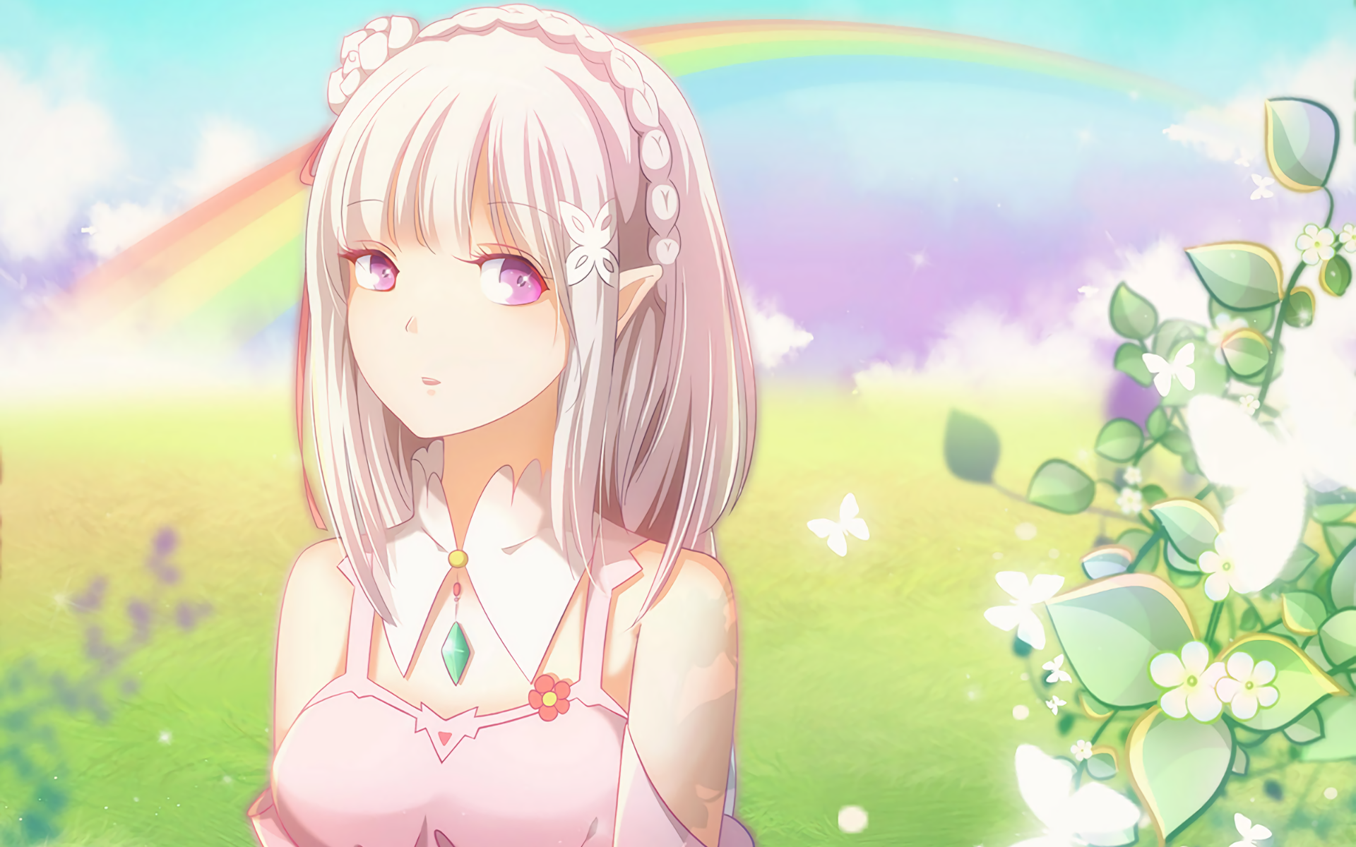 718 Emilia Re Zero Hd Wallpapers Background Images