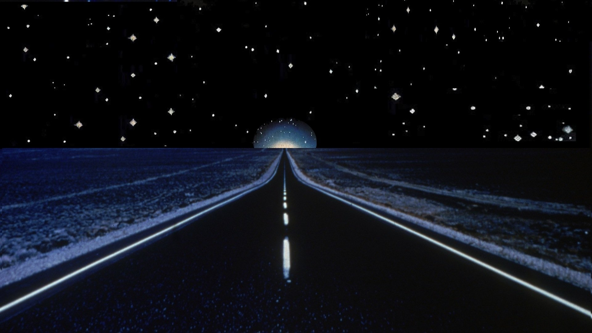 Night Road With Moon And Stars Papel De Parede Hd Plano De Fundo 1920x1080 Id 704881 Wallpaper Abyss