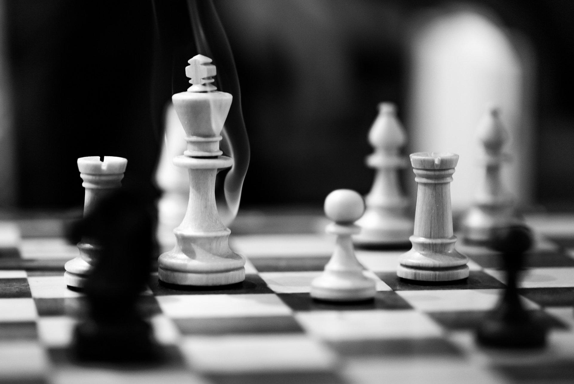 Game - Chess  Black & White Wallpaper